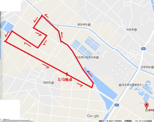 行田コース一周見取り図